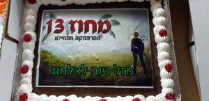 עוגת יום הולדת מחוז 13
